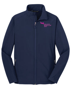 2019 Pegasus World Cup Core Full Zip Soft Shell Jacket, Navy