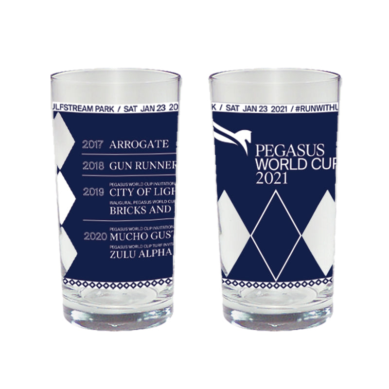 2021 Pegasus World Cup Collectors Glass 12.5 Oz Tumbler