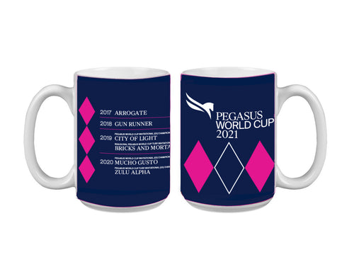 2021 Pegasus World Cup Winners Wrap 15 Oz Might Mug