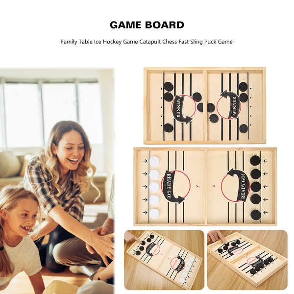 Table Hockey Paced Sling Puck Board Games Party Game Toys For Child Family