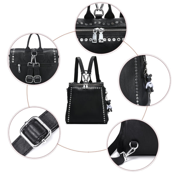 Women's Rivet Fashion Backpack