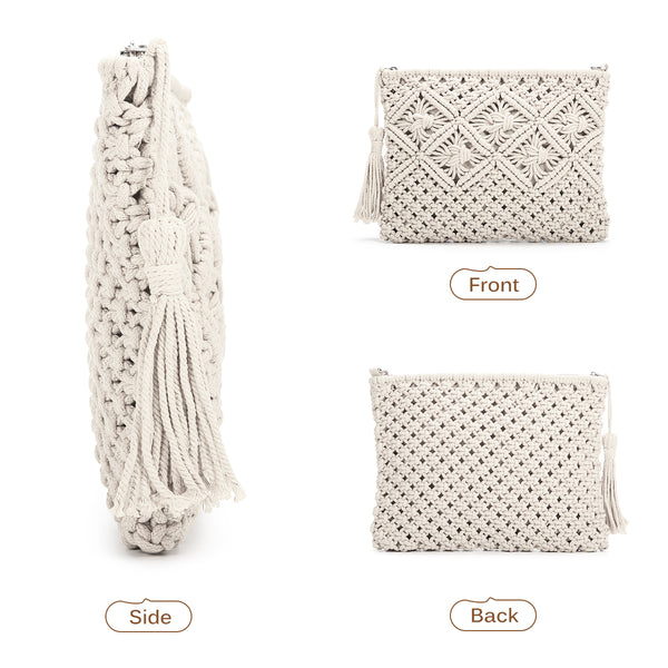 Woven Straw Clutch