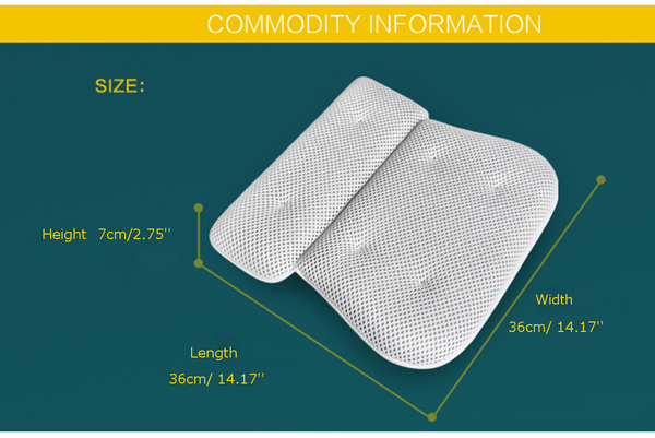 3D Air Mesh thin bath pillow