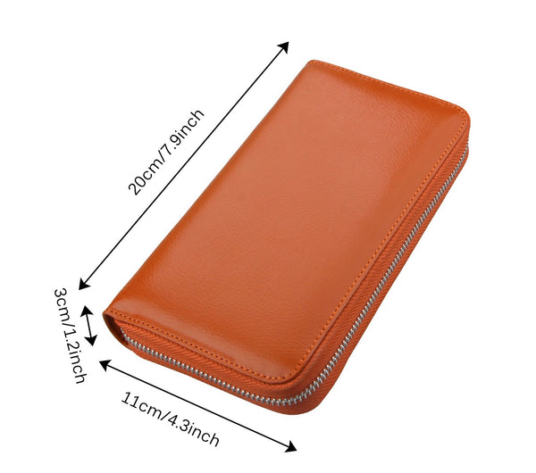 36 Card Slots Embossed Leather Wallet