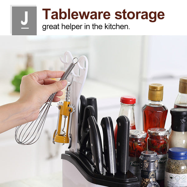 Multifunctional Spice & Kitchenware Organizer with Drawers & Knife Shelf