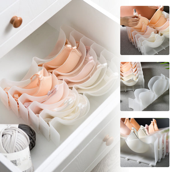 Detachable Plastic Bra Divider Drawer Closet Organizer (5 Grids)
