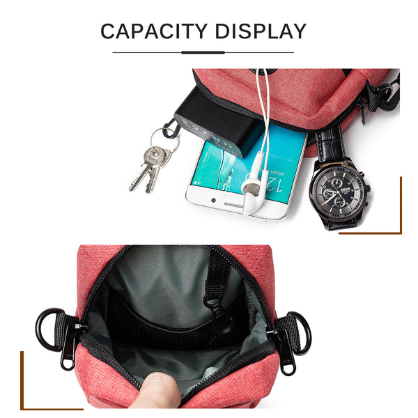 Multi-function Casual Passport Bag Card Holder Phone Bag Waist Bag Belt Purse