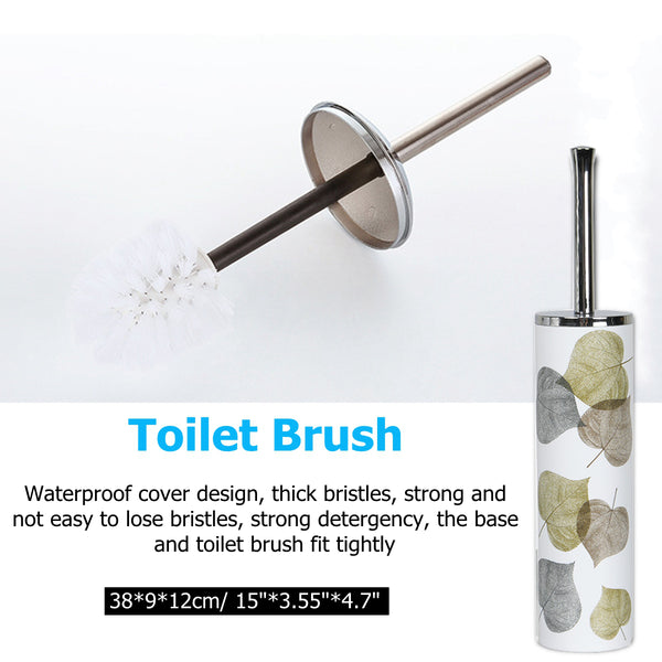 6PCS Simple Nordic Style Bathroom Accessories Set, Toothbrush Holder, Tumbler, Soap Dispenser, Soap Dish, Toilet Brush & Holder, Trash Can