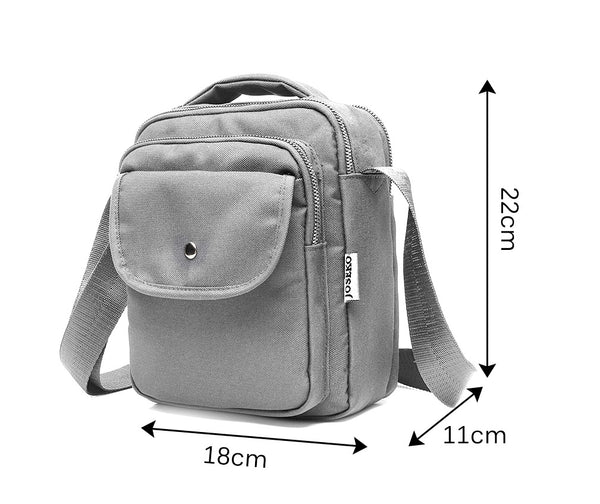 Women Multi-Pocket Small Nylon Crossbody Bag Shoulder Bag Organizer Lightweight Messenger
