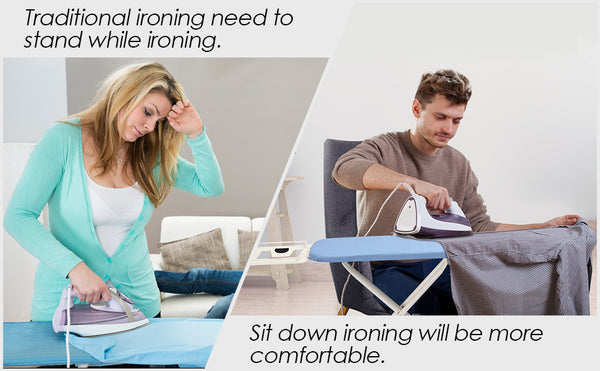 "30"" L x 13''W x 33''H Opensize 4-Leg Ironing Board, Adjustable Height, Anti-Slip & Scratch-resistant Feet"
