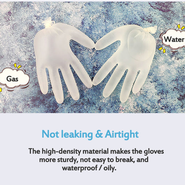 100 PCS Disposable gloves Powder-free Hygiene Cleaning PVC Gloves for Personal, Beauty, Medical Medium Large