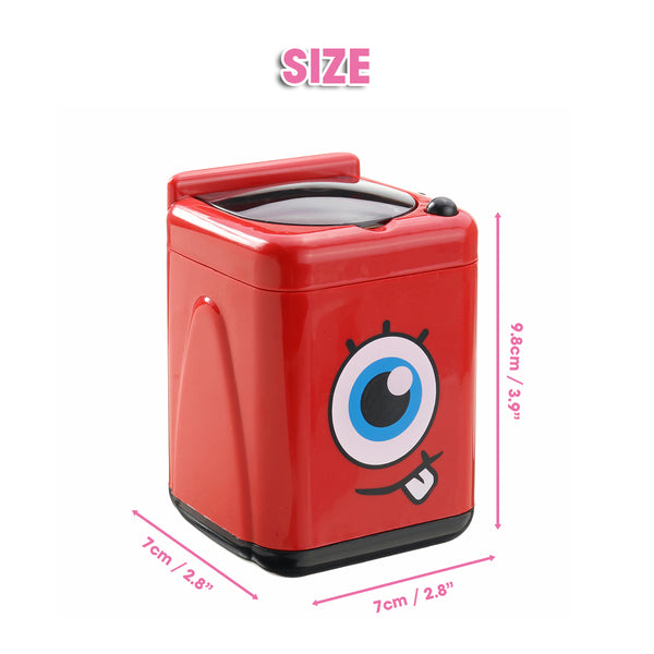 Kids Toy Washing Machine, Mini Automatic Cosmetic Puff Washer Electric Makeup Brush Cleaner Machine