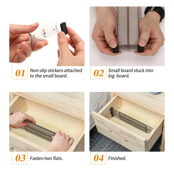 Adjustable Expandable Drawer Partition Organizers Partition for Kitchen/Office fits 10.9-19.89''
