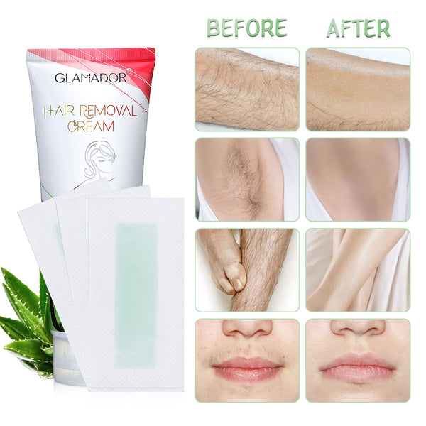 Aloe Rose Hair Removal Cream Depilatory Cream w/ Wax Stickers