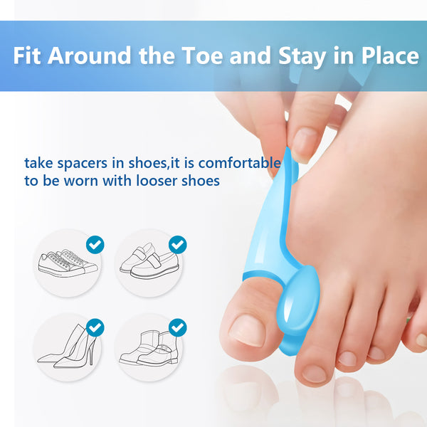 Toes Bunion Cushion Bunion Corrector Big Toe Separator Straightener Pain Relief Non-Surgical for Men Women