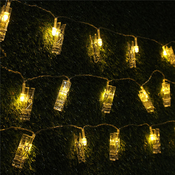 40PCS LED Photo Clip String Lights, Warm Light Lamp String Clip 5M for Home Decor
