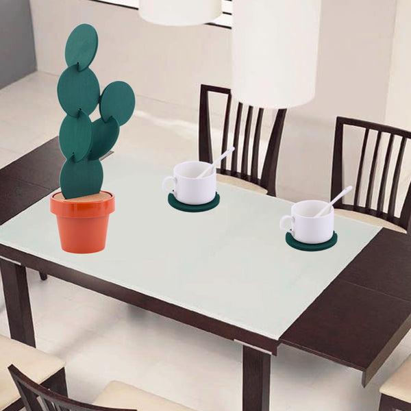 6PCS DIY Cactus Coaster with Flower Pot