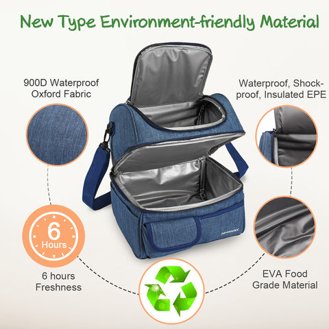 Environmental-friendly Insulated Picnic Bag with Handle and Shoulder Strap-15
