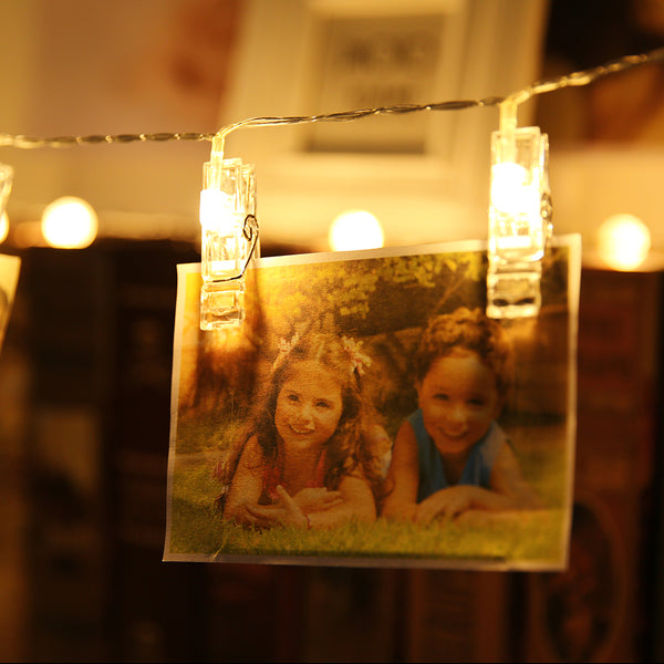 40PCS LED Photo Clip String Lights Clip Lamp String, 5 Meters for Home Decor