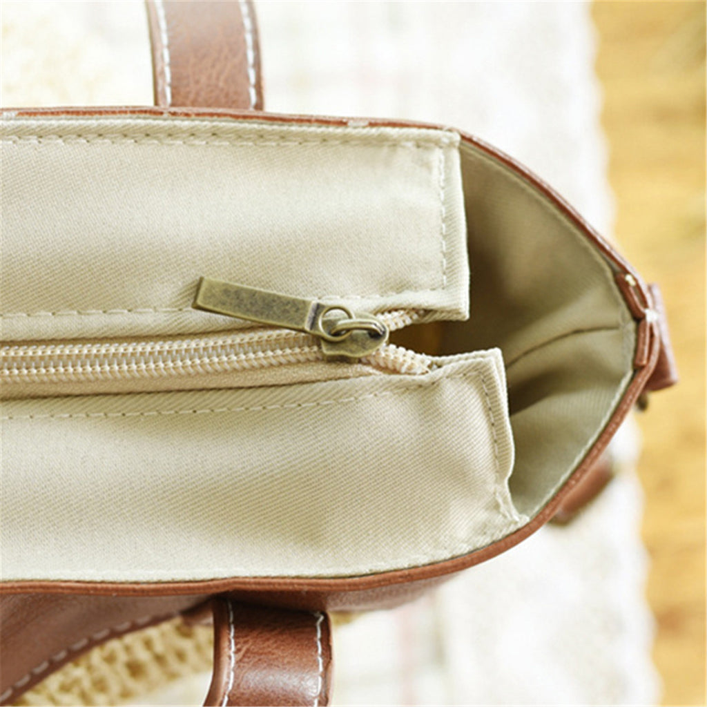 Outdoor Casual Cross body Straw Handbag-5