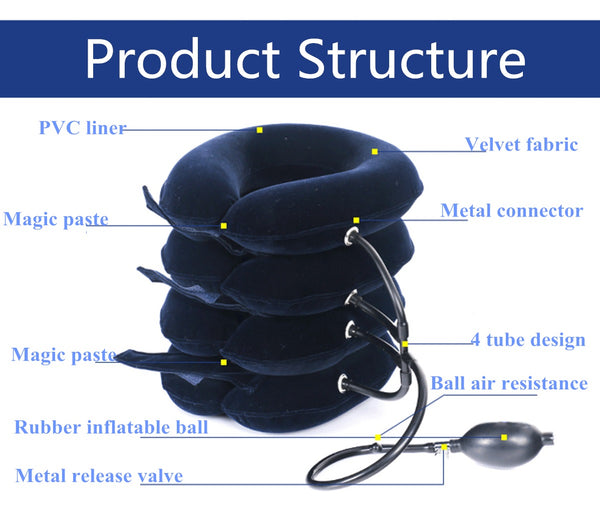 Inflatable Neck Support for Headache, Neck Pain Relief