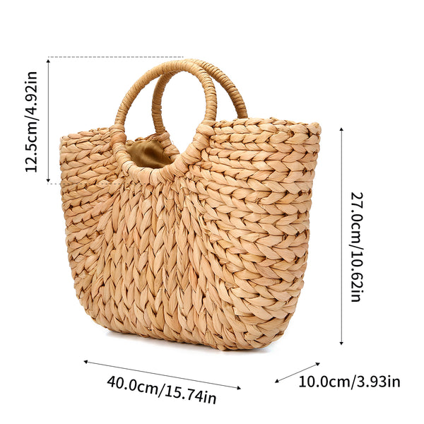 Straw Hobo Weave Beach Bag