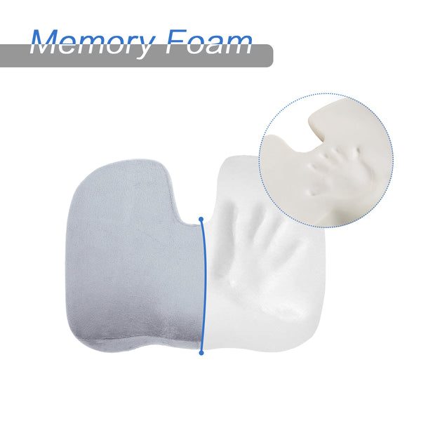 Memory Foam Seat Cushion for Back, Lumbar Pain Relief