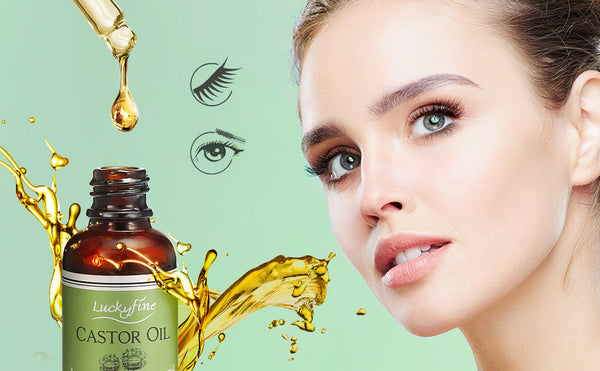 Castor Oil Lash & Hair Growth Serum Set, 100% Pure Organic, Cold Pressed, Hexane Free (30ml)