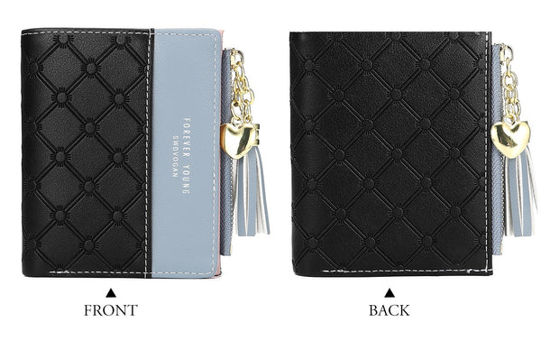Patchwork PU Leather Wallet