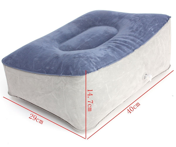 Inflatable Foot Rest Cushion Pillow, for Travel, Home