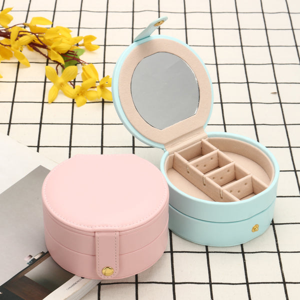 Portable Double Layer Jewelry Organizer Box Accessories Storage Box