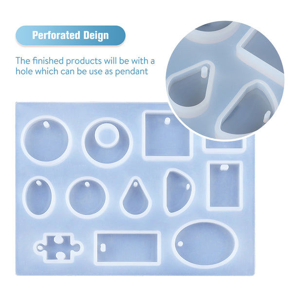 Resin Mold Kit Silicone Casting Mold Making Jewelry Pendant Mould Craft DIY Set