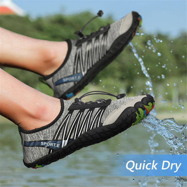 Gracosy Unisex Barefoot Quick Dry Water Shoes, Aquatics Water Sport Shoes Outdoor Sneakers Anti-Slip for Boating, Surfing-Men Size