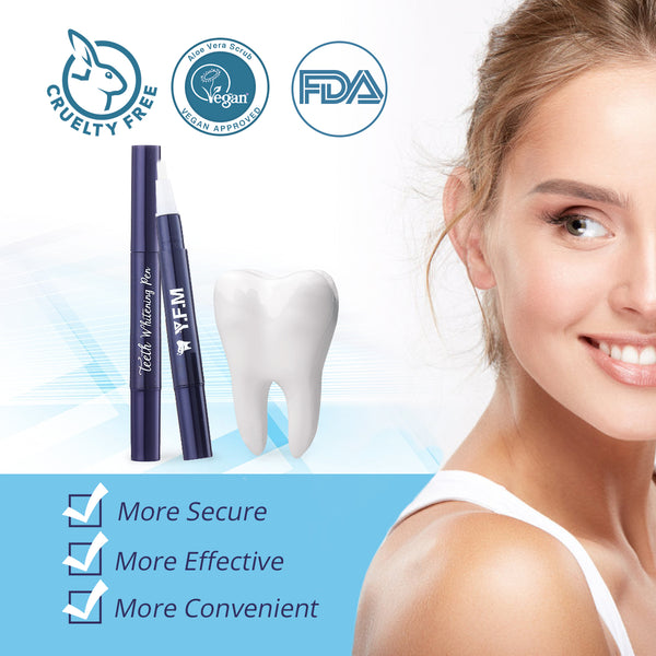 2PCS Teeth Whitening Pen Safe & Effective Teeth Whitening Gel, with Mouth Opener, 15 Teeth Wipe