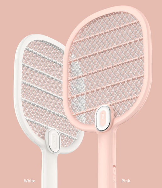 Electric Mosquito Swatter 3-Layer Net USB Rechargeable Insect Bug Fly Mosquito Killer Racket