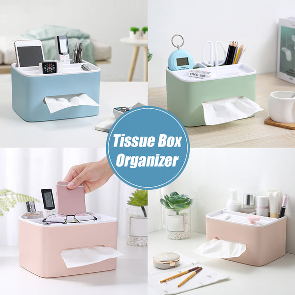 Tissue Holder Desk Storage Organizer