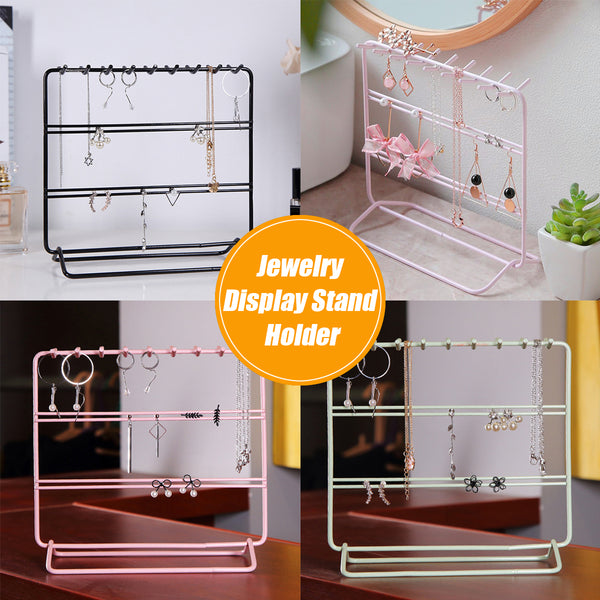 Jewelry Hanging Display Rack Hanging Storage Rack with Hooks, Earrings Free Hanging
