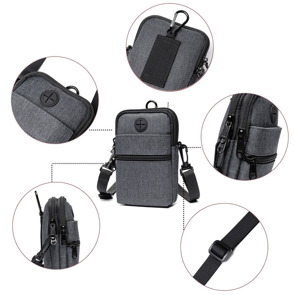 Multi-Function Waterproof Wallet Crossbody Bag Phone Bag Waist Bag for Men Women