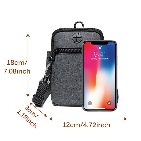 Multi-Function Small Wallet Crossbody Bag Phone Bag Waist Bag Lightweight for Men Women
