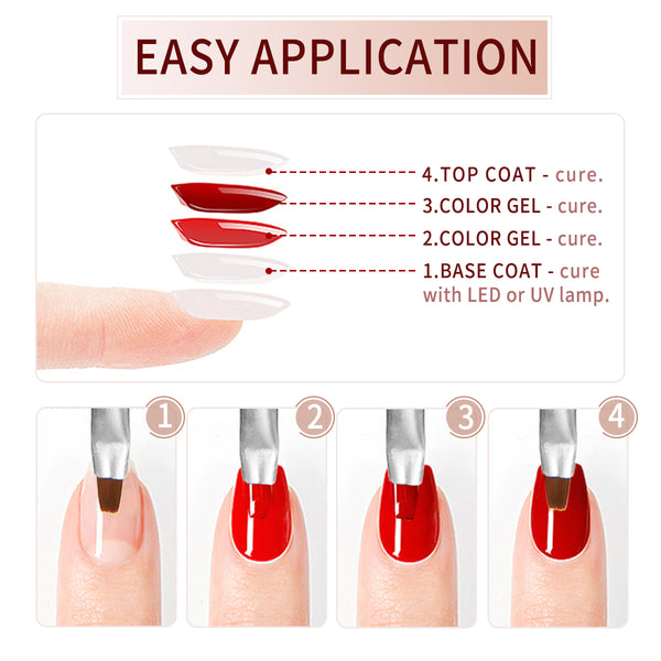 36 Colors UV Nail Glue Nail Polish Kit, UV LED Soak Off Gel for Nail Art Design
