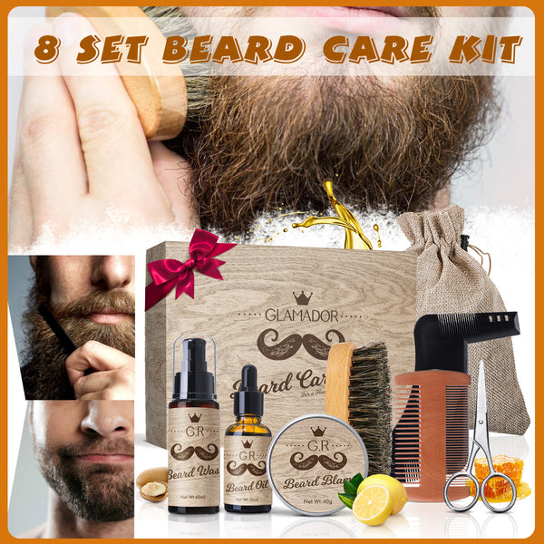8 In 1 Beard Care Gift Grooming Trimmer Kit Gift Set for Men/Dad/Husband