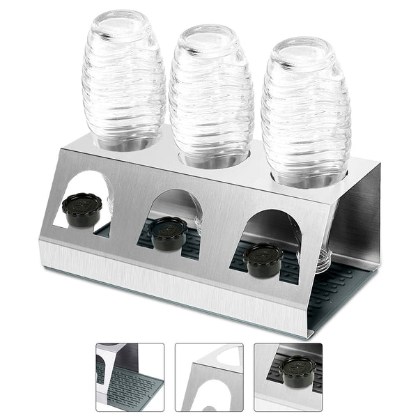 Stainless Steel Dish Drainer W/ Drip Mat Drip Tray for Cups Bottles Dishwasher Safe Dish Drainer
