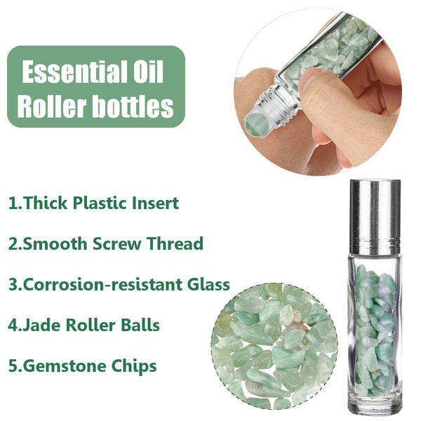 Jade Roller Face Roller, 2 In 1 Vibrating Facial Roller Skin Care Tools for Face, Neck Relaxing