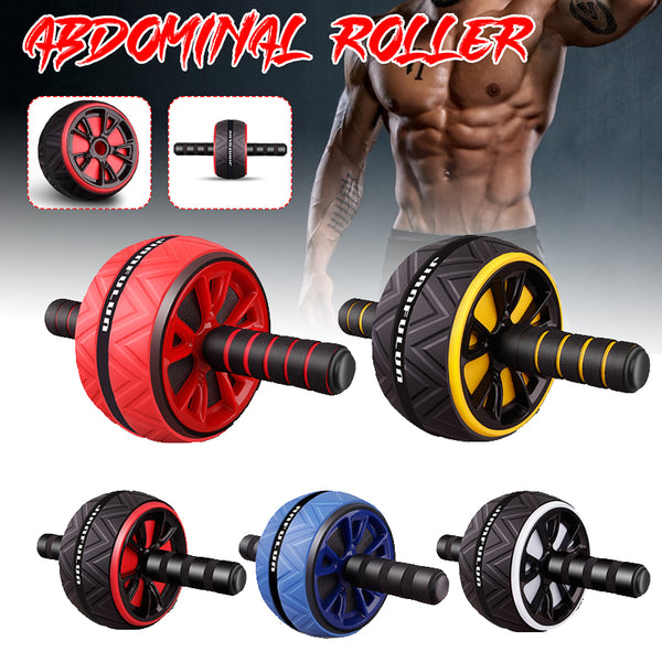 Ab Abdominal Mute Roller Exercise Wheel Core Fitness Muscle Trainer Ab Roller