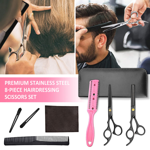 6in Barber Scissors Hairdressing Scissors Set Pro Scissors Set with Barber Cape & Storage Case