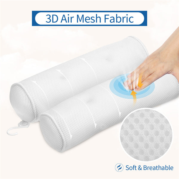 Double Post Bath Pillow, Bathtub Pillow Cushion with Strong Suction Cups, Portable Soft Comfortable