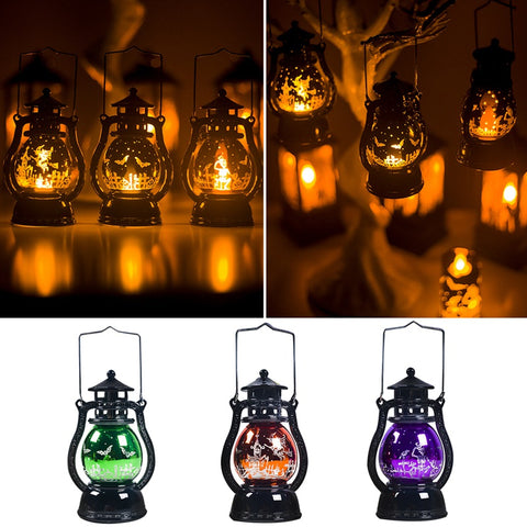 Halloween Party Decor Portable Oil Lamp Night Light Home Decor Props