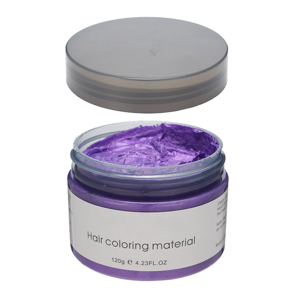Purple Hair Coloring Wax 4.23 oz, Temporary Dye Professional Hair Pomades, Purple Matte Hairstyle for Cosplay Party Daily