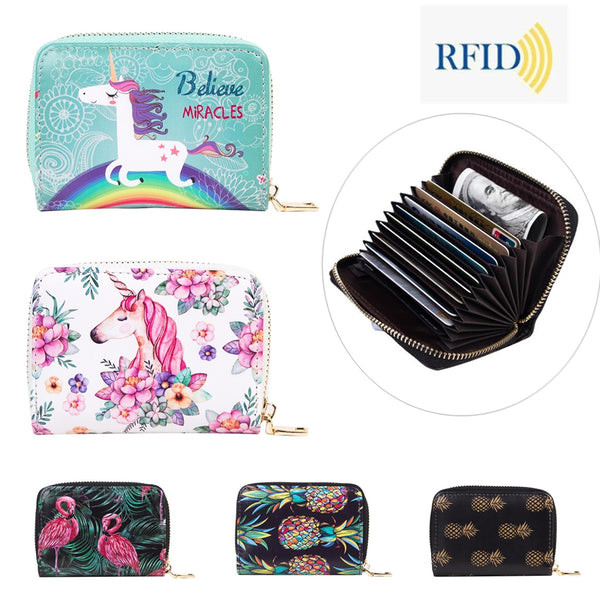 Cute RFID Women Card Wallet
