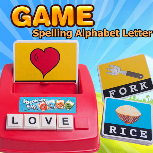 Educational Toy Parent-child English Spelling Alphabet Letter Game Kids Early Learning T